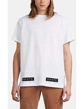 Logo Box Fine Gauge Slub Cotton T Shirt by Off White C/O Virgil Abloh