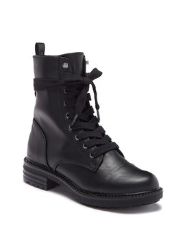 Nina Lace Up Combat Bootie by Report