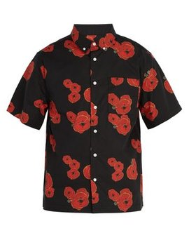 Bruce Poppy Print Cotton Shirt by Saturdays Nyc