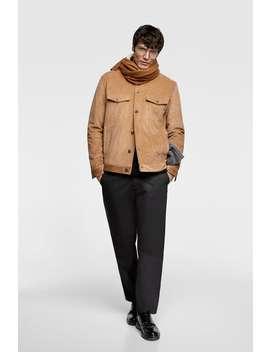 Corduroy Jacket With Fleece Trim  View All Jackets Man by Zara