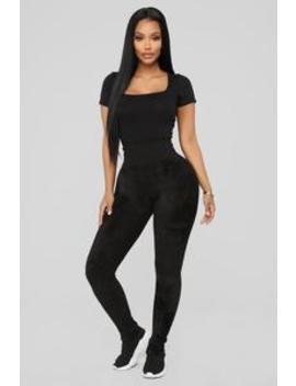 Plush Play Leggings   Black by Fashion Nova
