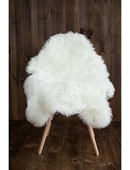 My Comfy Zone Sheepskin Faux Fur Chair Cover/Rug /Seat Pad/Area Rugs For Bedroom Sofa Floor Vanity Nursery Decor Ivory And White 2ft X 3ft (White) by My Comfy Zone