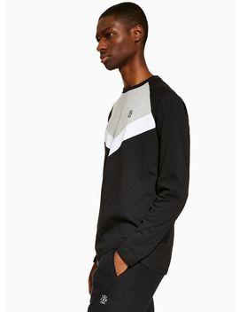 Jog On Panelled Long Sleeve T Shirt* by Topman