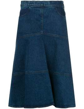 Flared Denim Skirt by See By Chloé
