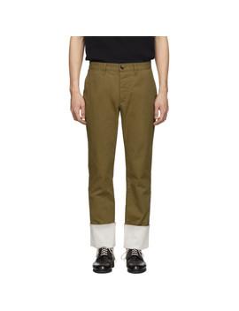 Beige Turn Up Chino Trousers by Loewe