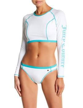 Juicy Logo Rashguard & Bikini by Juicy Couture