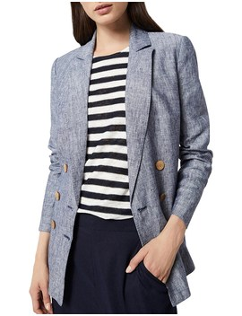 Cross Dye Linen Blazer by Witchery