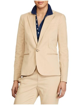 Tailored Stretch Cotton Blazer by Polo Ralph Lauren