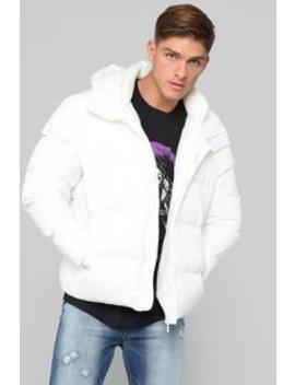 Classic Puffer Jacket   White by Fashion Nova