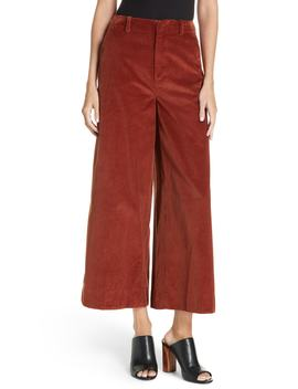Oakley Crop Wide Leg Corduroy Trousers by Elizabeth And James