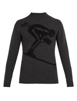 Skieur Ski Jacquard Wool Blend Sweater by Fusalp