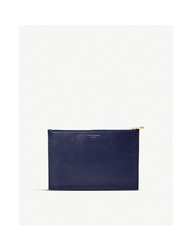 Essential Flat Leather Pouch by Aspinal Of London