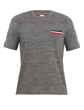 Patch Pocket Cotton T Shirt by Moncler Gamme Bleu