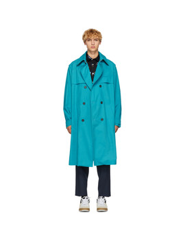 Blue Trench Coat by Kenzo