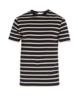Striped Crew Neck T Shirt by Sunspel