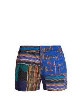 Patchwork Zigzag Print Swim Shorts by Missoni Mare