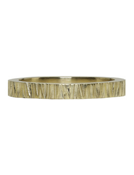 Gold Structure Ring by Tom Wood