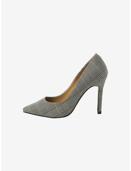 Check Pattern Pointed Toe Pumps by Stylenanda
