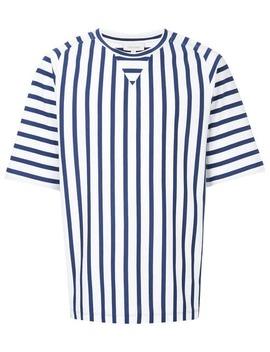 Basque Stripe Printed T Shirt by Ck Calvin Klein