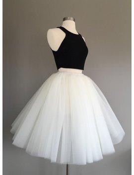 Ivory Tulle Skirt   Light Ivory Tulle Skirt, Adult Bachelorette Tutu  Ivory Adult Tutu, White Adult Tulle Skirt by Etsy