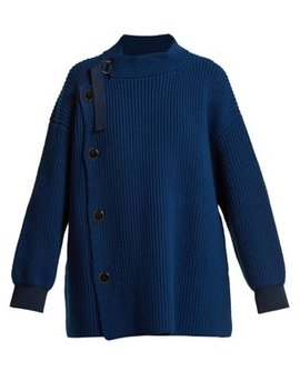 Ribbed Knit Wool Cardigan by Stella Mc Cartney