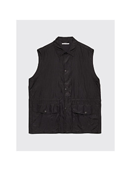 Our Legacy Puff Pocket Shirt Vest Black Ripstop by Très Bien