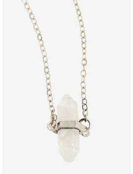 Healing Crystals Clear Quartz Necklace by Hot Topic