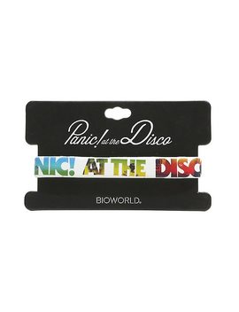 Panic! At The Disco Multi Color Rubber Bracelet by Hot Topic