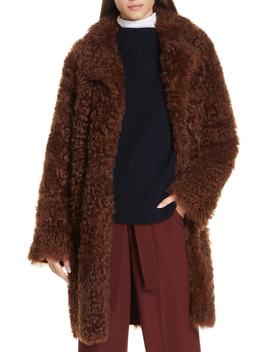 Reversible Genuine Shearling Coat by Vince