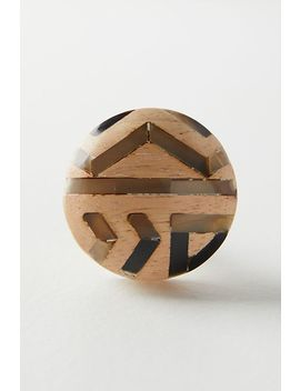 Wooden Geo Knob by Anthropologie