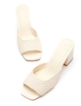 Square Woven Heel by Glassons