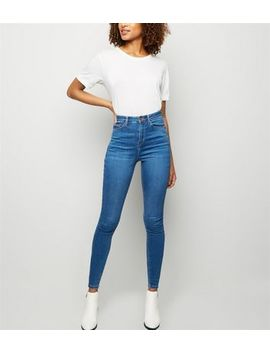Tall Blue High Waist Skinny 'lift & Shape' Jeans by New Look