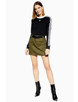 Clip Belt Utility Denim Skirt by Topshop