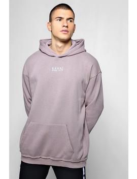 Oversized Heavyweight Man Reflective Hoodie by Boohoo