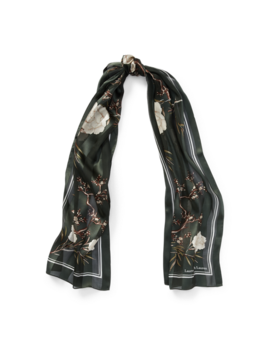 Floral Silk Jacquard Scarf by Ralph Lauren