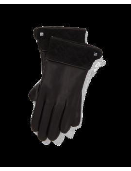 Trapunto Cuff Leather Gloves by Ralph Lauren