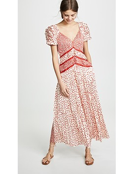 Dot Satin Printed Dress by Self Portrait