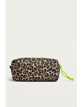 Uo Leopard Print Nylon Pencil Case by Urban Outfitters