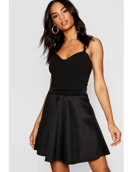Tall Mini Skater Skirt by Boohoo