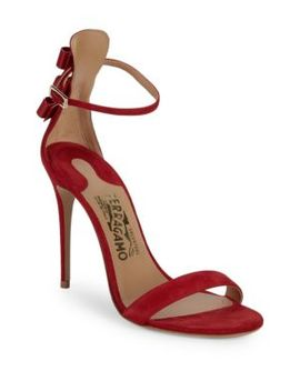 Angie Suede Sandals by Salvatore Ferragamo