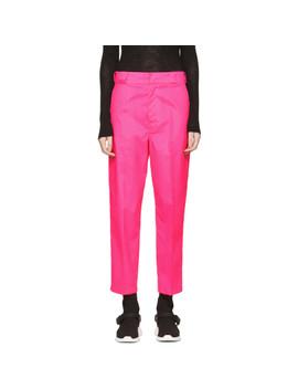 Pink Techno Logo Trousers by Prada