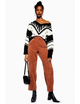 Straight Leg Corduroy Trousers by Topshop