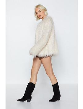 Groovy Baby Shaggy Faux Fur Coat by Nasty Gal