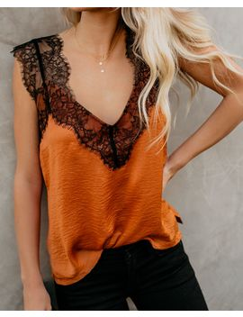 One More Night Lace Cami Tank   Caramel by Vici