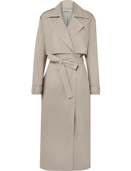 Inez Cotton Canvas Trench Coat by Anna Quan