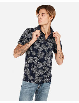 Floral Moisture Wicking Signature Stretch Polo by Express