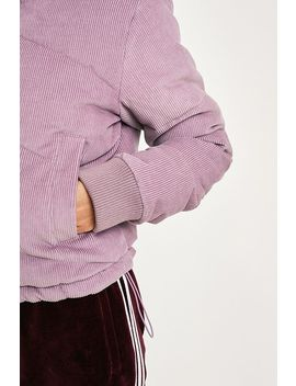 Uo Lilac Corduroy Chevron Puffer Jacket by Urban Outfitters