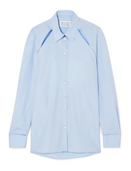 Cutout Cotton Poplin Shirt by Maison Margiela