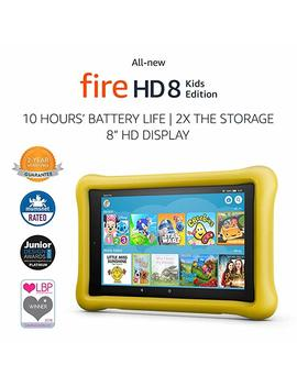 """All New Fire Hd 8 Kids Edition Tablet, 8"""" Hd Display, 32 Gb, Yellow Kid Proof Case by Amazon"""