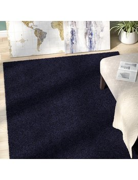 Zipcode Design Wilfred Solid Shag Midnight Blue Area Rug & Reviews by Zipcode Design
